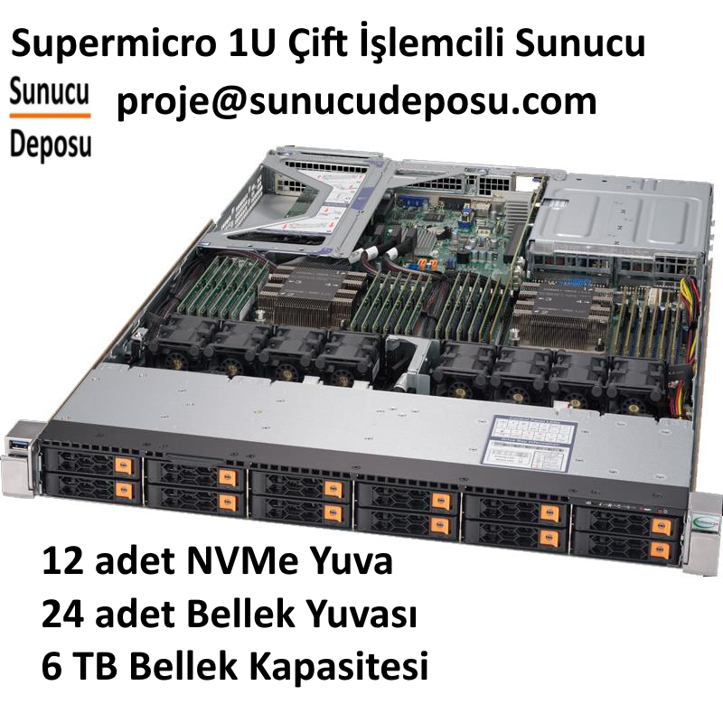 SYS-1029U-TN12RV Supermicro NVMe Sunucu