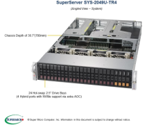 Supermicro Ultra SuperServer SYS-2049U-TR4 - 2U - 20x SATA/SAS + 4 SATA/SAS/NVMe - Quad 1-Gigabit Ethernet (RJ45) - 1600W Redundant