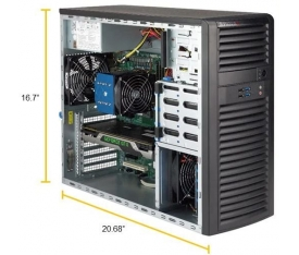 SYS-5039C-I Supermicro Tower Workstation Server intel Xeon E-2100
