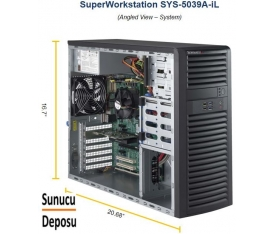 Supermicro SuperWorkstation 5039A-iL Workstation E3-1200v6