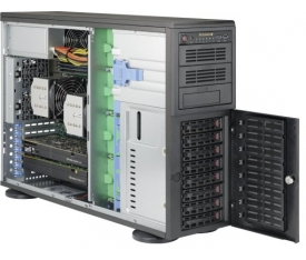 Supermicro SuperWorkstation 7048A-T - 4U/Tower - 8x SATA - 16x DDR4 - 1200W
