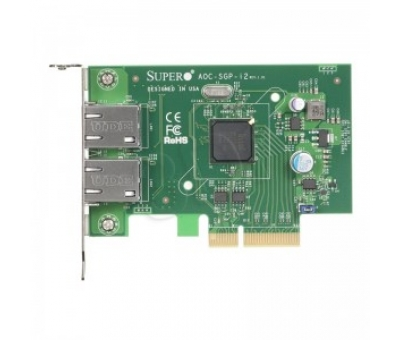 Supermicro AOC-SGP-i2 Gigabit Networking Adapter Intel i350 PCIe 2-Port 2xRJ45 Copper Low-Profile