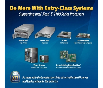 Intel Xeon E-2100  işlemci Supermicro Server & WorkStation