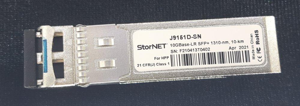 J6151D HPE Aruba Uyumlu StorNET SFP+ Transceiver