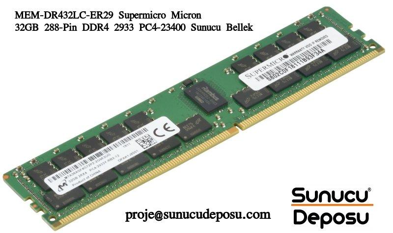 MEM-DR432LC-ER29 Supermicro Micron 32GB 288-Pin DDR4 2933 PC4-23400 Sunucu Bellek