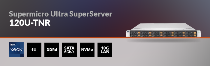 Supermicro Ultra SuperServer 120U-TNR - 1U - 12x 2.5