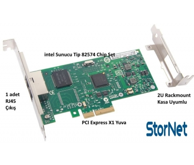 intel 82574 Chip 1 Gb/s 1 Port Ethernet Kart